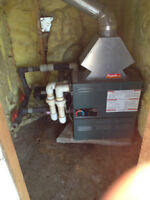 Contained outdoor boiler and pump for hot tub