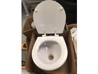 Jabsco compact toilet bowl and sear