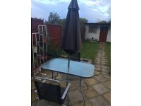 Argos 6 seater Patio table and chairs