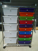 15 Drawer Rolling Cart