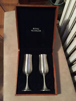 Royal Selangor Pewter Champagne Flutes in Gift Box