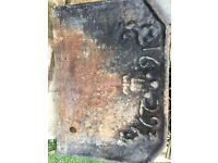 1629 fire grate back cast iron vintage