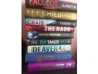 Hard back thriller books