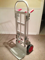 Steel dolly that converts to hand truck