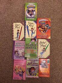 Sky landers, horrid Henry and Max selection of children's books