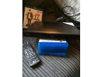 lg blu-ray dvd player with 5 films