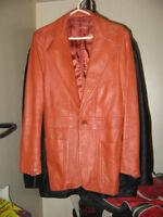 Manteau de cuir fait à la main