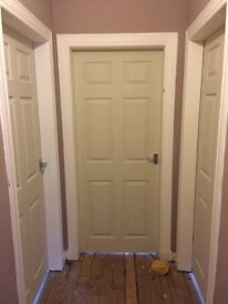 White primed 6 panel doors £45 supplied and fitted with brass or chrome and 2&4 panel £50 Each