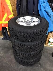 Studded winter tires on jeep rims 225/75r15