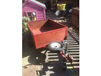 Wood and metal trailer. 3 foot by 4 foot