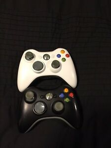Two Xbox 360 Controllers