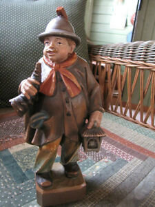 """Antique hand carved """" Night watchman"""" London Ontario image 1"""