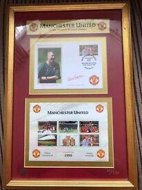 Ltd Ed Manchester United Treble Winning Stamp Set