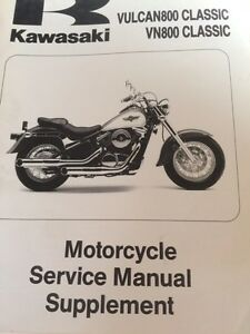 1996 1997 Kawasaki Vulcan VN800 Service Manual Supplement