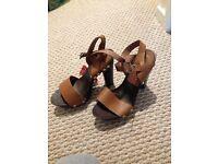 Brown heels size 6 brand new!