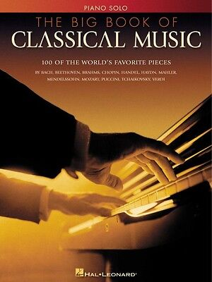 The Big Book of Classical Music Sheet Music Piano Solo SongBook NEW 000310508