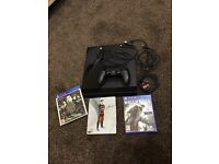Sony PlayStation 4 console with 3 games. PS4 with limited edition games. Bargain