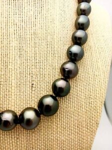 BEAUTIFUL BLACK TAHITIAN PEARL NECKLACE Downtown-West End Greater Vancouver Area image 2