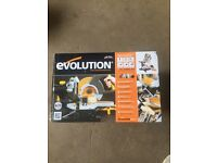"110v - brand new evolution chop sliding saw 8"""