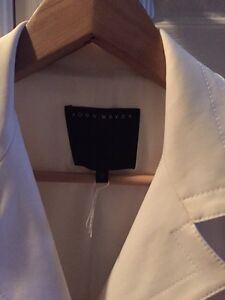 Ross Mayer white designer suit jacket
