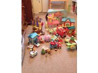 Huge collection of happy land toys