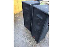 Band / disco PA speakers