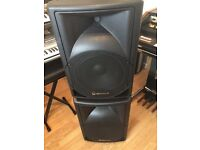 Two qtx sound q12a active speakers 250 w max