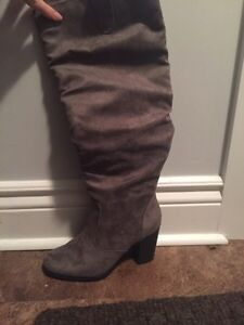 Grey brand new Maurice's boots!! Never worn!