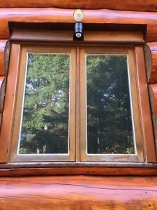 Used double pane glass windows.