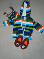 Baby Cloths 6 – 9 Months + Home Shoes  ALL 5$
