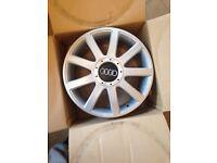 "17"" Audi/vw alloys recent powder coated"