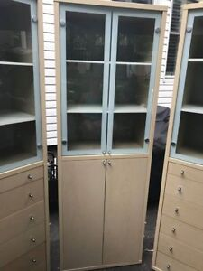 3  CABINETS BOOKCASE 125 EACH