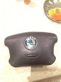 Skoda steering wheel airbag