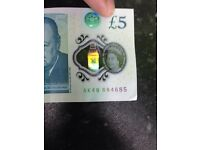 £5 note for sale