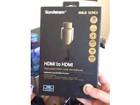 Gold plated hdmi to hdmi cable with Ethernet