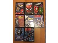 DVDs Batman and Spider-Man animated series