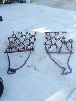 2 sets of small chain harrows