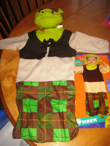 Baby Shrek costume for child in size 1