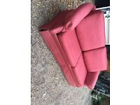 3 SEATER RED SOFABED