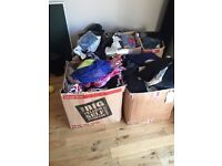 Reduced £200. Four large boxes of car boot items