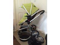 Unisex Green Silver Cross Surf Pushchair / Pram (Sale / Swap) Car Seat
