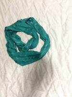 Blue Turquoise infinity scarf