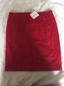 Brand new, Womens/ girls red mini skirt, size 4