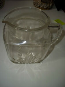 Vintage Federal Glass Water Jug with the Star Burst Pattern.