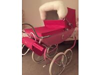 Limited edition snow fairy silver cross dolls carriage