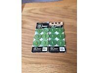 Set of twelve green buttons *new*