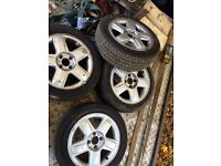 "15"" Renault alloys with tyres"
