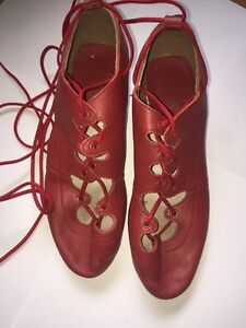 Highland Dance Red jig shoes