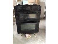 Double oven and gas hob