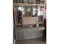 White Wood Laminate Display Cabinet.